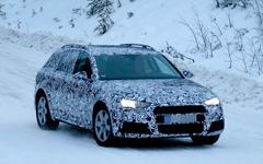 アウディ A4 オールロード 次期型、馬力アップの新エンジンで雪中ドライブ! 画像