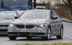 BMW 5シリーズ 次期型、これが新ヘッドライト&グリルだ! 画像