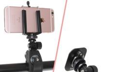ハンドルやフレームに取り付ける自転車用カメラクランプ 画像