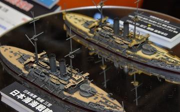 【静岡ホビーショー16】ハセガワ、新作ウォーターライン「日本海軍 戦艦 三笠」を展示 画像