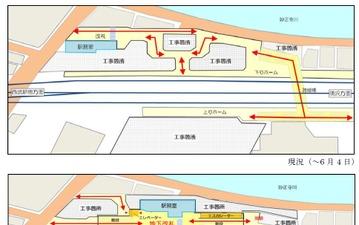 西武鉄道、新宿線中井駅の改札を地下に移動…バリアフリー化で国の基準を達成 画像