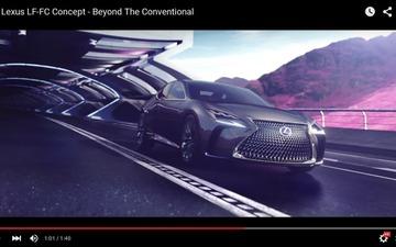 【東京モーターショー15】レクサス LF-FC、燃料電池の高級車という提案[動画] 画像