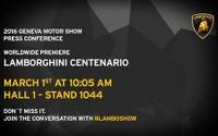 【ジュネーブモーターショー16】ランボルギーニ、「センテナリオ」をワールドプレミアへ 画像