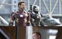 アイアンマンとキャプテン・アメリカ、マスク外し素顔のイケメン度対決 画像
