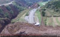 国土地理院、豊肥線や阿蘇大橋をドローン空撮…土砂崩れで無残な姿に 画像