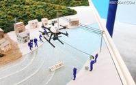 【国際ドローン展16】災害時のケーブル復旧を見据えたNTT東日本のドローン技術 画像