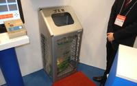 【テクノフロンティア16】ゴミ箱が犯罪者を発見!? 旭光通信の防犯機能付ダストボックス 画像