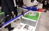 【国際ドローン展16】ドローンもデザイン多様性へ、変則8ローターの試作機を展示…TEAD 画像
