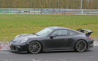 ポルシェ 911GT3 改良新型、ニュル北コースに姿再び 画像