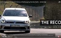 VW ゴルフ GTI クラブスポーツS、ニュルFF最速ラップ達成の瞬間[動画] 画像