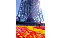 花じゅうたんに特別ライティング…ベルギー色に染まる東京スカイツリー[フォトレポート] 画像