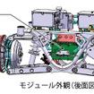 OVEC-TWOの電装品・シャシのモジュール構造