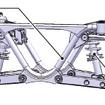 OVEC-TWOのダブルウィッシュボーン式サスペンション