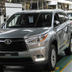 トヨタのインディアナ工場で生産される新型トヨタハイランダー