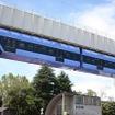 千葉都市モノレールが発表した「ノモちゃん号」のデザインは0形電車に似ているが、実際に使用するのは1000形になる。写真は0形。