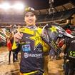 ハスクバーナに450SXクラス初の優勝をもたらし、自身も初優勝を果たした#21ジェイソン・アンダーソン(Rockstar Energy Husqvarna Factory Racing)。