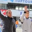 ジャン・アレジ氏(左)とジュリアーノ・アレジ(右) (2015 モータースポーツファン感謝デー)