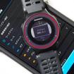 GARMIN CONNECTモバイルをインストールしたスマートフォンとブルートゥースで接続することにより、データの自動アップロードなどの機能を利用できる。