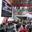 横浜ゴムブースで行われたスーパーフォーミュラトークショー