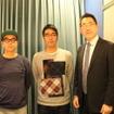 左から、おぎやはぎの小木博明氏、おぎやはぎの矢作兼氏、レスポンス編集長の三浦和也