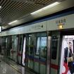2000年代に開業した新しい地下鉄ではCBTCの導入例が多い。写真はCBTCを導入している中国・昆明地下鉄の環城南路駅。