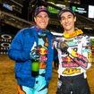 KTMに乗り、ともに表彰台にのぼったR.ダンジー(左)とM.ムスキャン。
