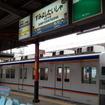 住吉公園電停と接する南海線住吉大社駅