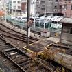 南海線住吉大社駅から見える阪堺上町線住吉公園電停