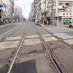 阪堺線と上町線が交差する部分