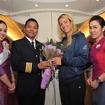 タイ国際航空、全豪オープン女子チャンピオンを歓迎…バンコク経由でドイツへ