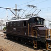 ED403やED501の機関車展示も行われる。写真はED501。