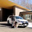 三菱 アウトランダーPHEVで冬の八ヶ岳へ…EV走行メイン、愛犬と自然に優しく