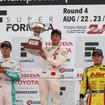 昨年は全日本F3を戦っていた福住(中央)が、今季は欧州のGP3に参戦する。