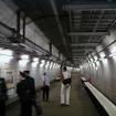竜飛定点の通路(2000年撮影)。2月19日から携帯電話サービスが提供される。