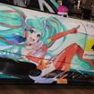 チーム右京体制発表でお披露目された「初音ミク AMG GT3」