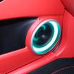 ドアのミッドバスは写真のようにアウターバッフル化される。スピーカーの持つポテンシャルを引き出し高音質を狙う。