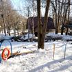 プレミアムコテージには、庭にも十分な広さのドッグランが付いている