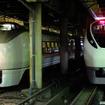 651系(左)とE657系。常磐線特急車両の新旧並び(上野)
