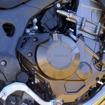 CRF1000L Africa Twin パールグレアホワイト(トリコロール)。前後タイヤはオフロード走行用に交換されている。
