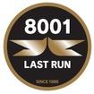 8000形8001号編成の運行終了まで掲出される「8001 LASTRUN」ヘッドマーク。