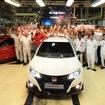ホンダの英国スウィンドン工場で生産が開始された新型シビック タイプR