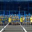東京マラソン2016のゴール地点となった東京ビッグサイト東棟屋外駐車場