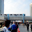 東京マラソン2016のゴール地点となった東京ビッグサイト