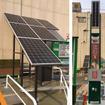 左:ハイブリッドソーラーシステム右:ソーラーLED街路灯(非常用電源・AED付)