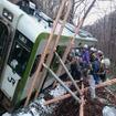 山田線は昨年12月に松草~平津戸間の線路内に土砂が流入し、列車が脱線した。復旧計画の策定や工事の着手は早くても3月以降になる見込み。