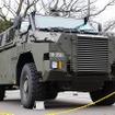 陸上自衛隊・広報センターで開催されたイベントで一般初公開となった輸送防護車(MRAP)。