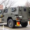MRAPは対爆性能に優れており、外観からも装甲の厚さがわかる。