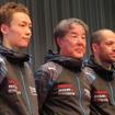 今年の日産の体制発表会にて。星野一義監督(中央)のインパルは、SUPER GT/GT500クラスにはオリベイラ(右)と安田裕信(左)のコンビ、日産GT-Rで臨む。