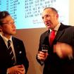 アウディジャパン代表取締役・齋藤徹氏も会場で競技を見守った(左)