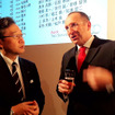 アウディツインカップジャパンファイナル会場に駆けつけたアウディジャパン代表取締役・齋藤徹氏(左)と、同社アフターセールス本部長のフランクハービック氏